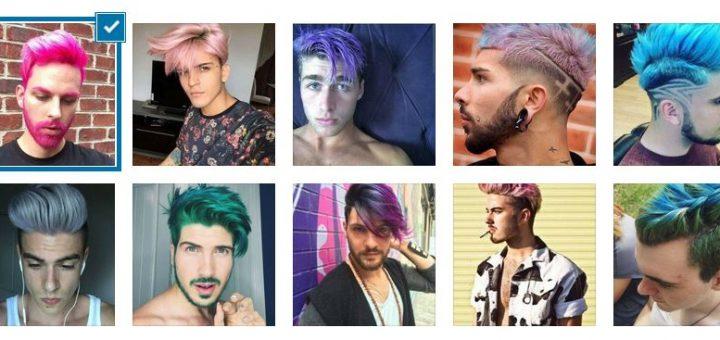 Модерни Цветни Мъжки Прически 2018