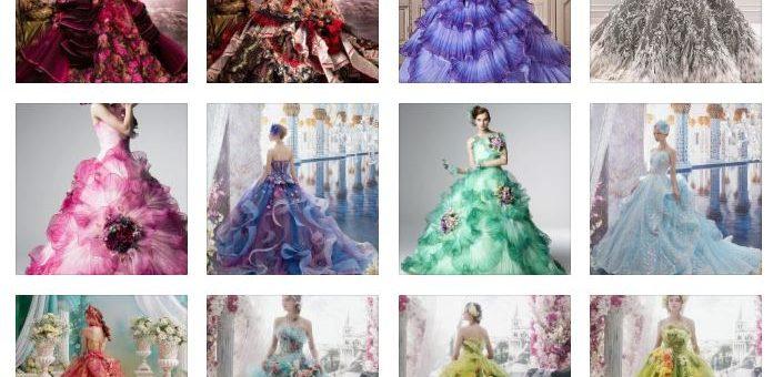 Бални Рокли за Принцеси с Флорални Декорации 2018