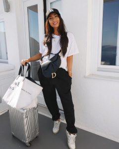 10 Вдъхновяващи Примера Как да Носите Широки Панталони с Висока Талия Тип БАНАН